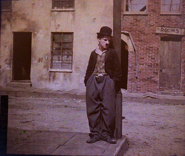 Colour Photo Charlie Chaplin