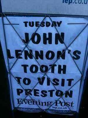 Really bad newspaper headline -John Lennone