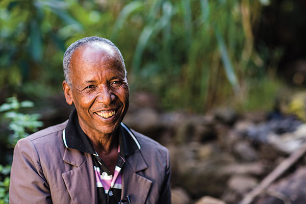 Abebe Aragaw is a survivor of the Ethiopian famine