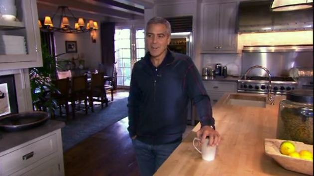 George Clooney at home