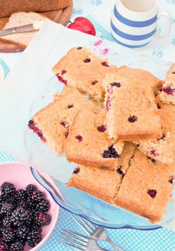 Gluten free Blackberry Blondie