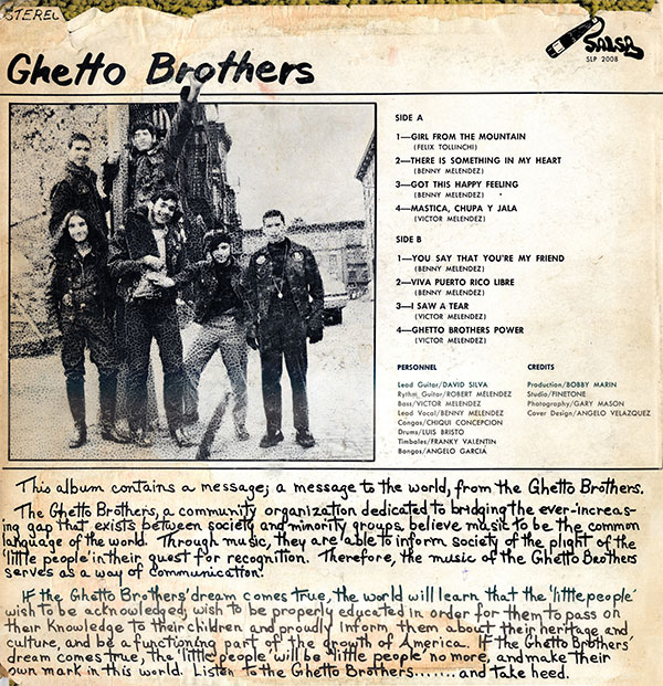 Ghetto Brothers Power-fuerza back cover