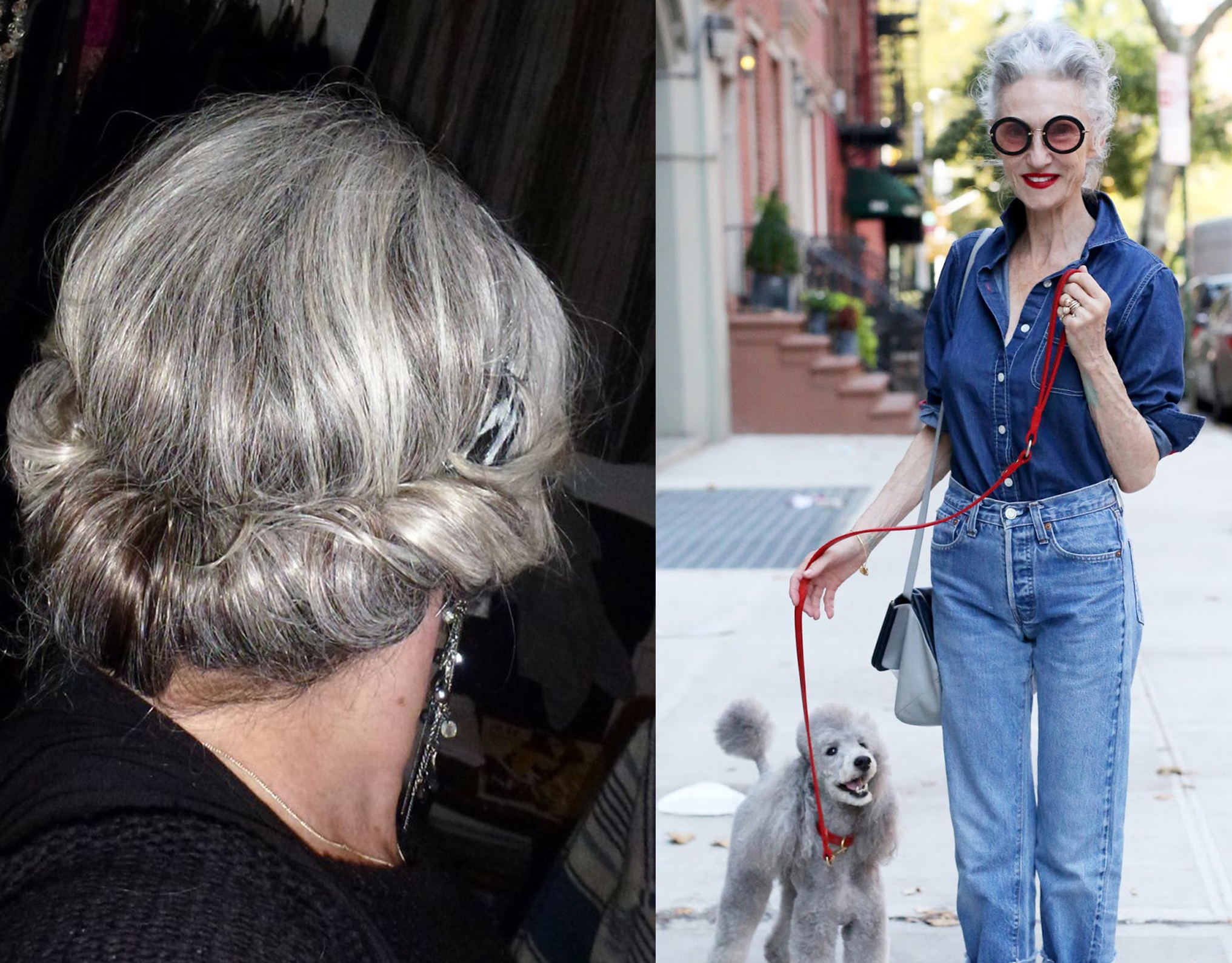 Grey Hair Updo