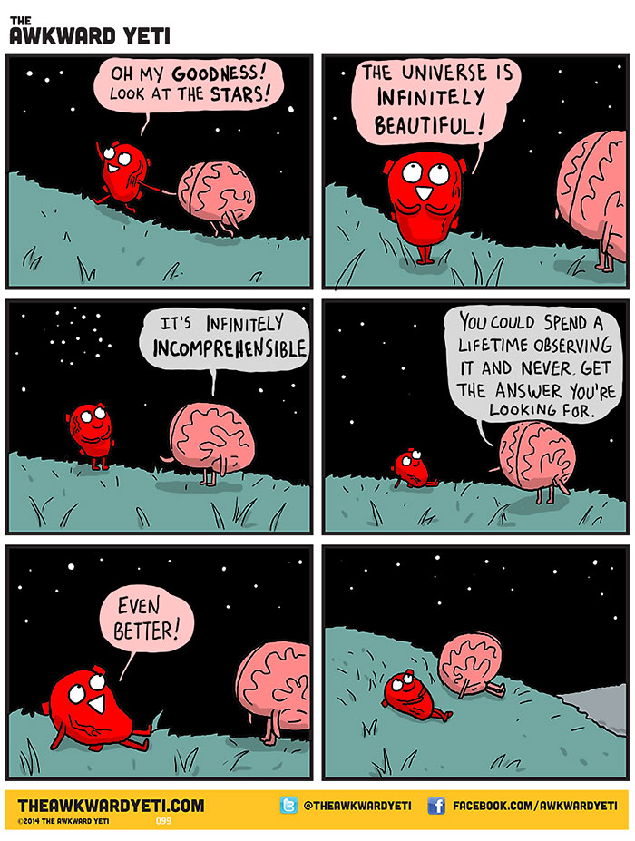 Heart and brain on the universe