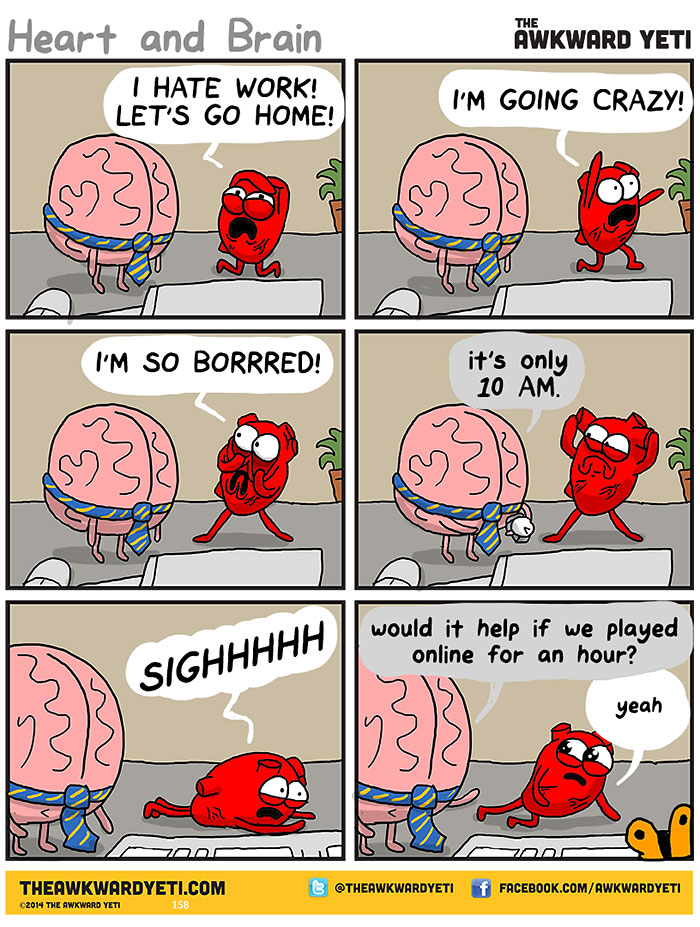 Heart and brain at work