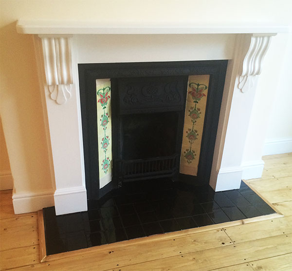 Fireplace after restoration and installment