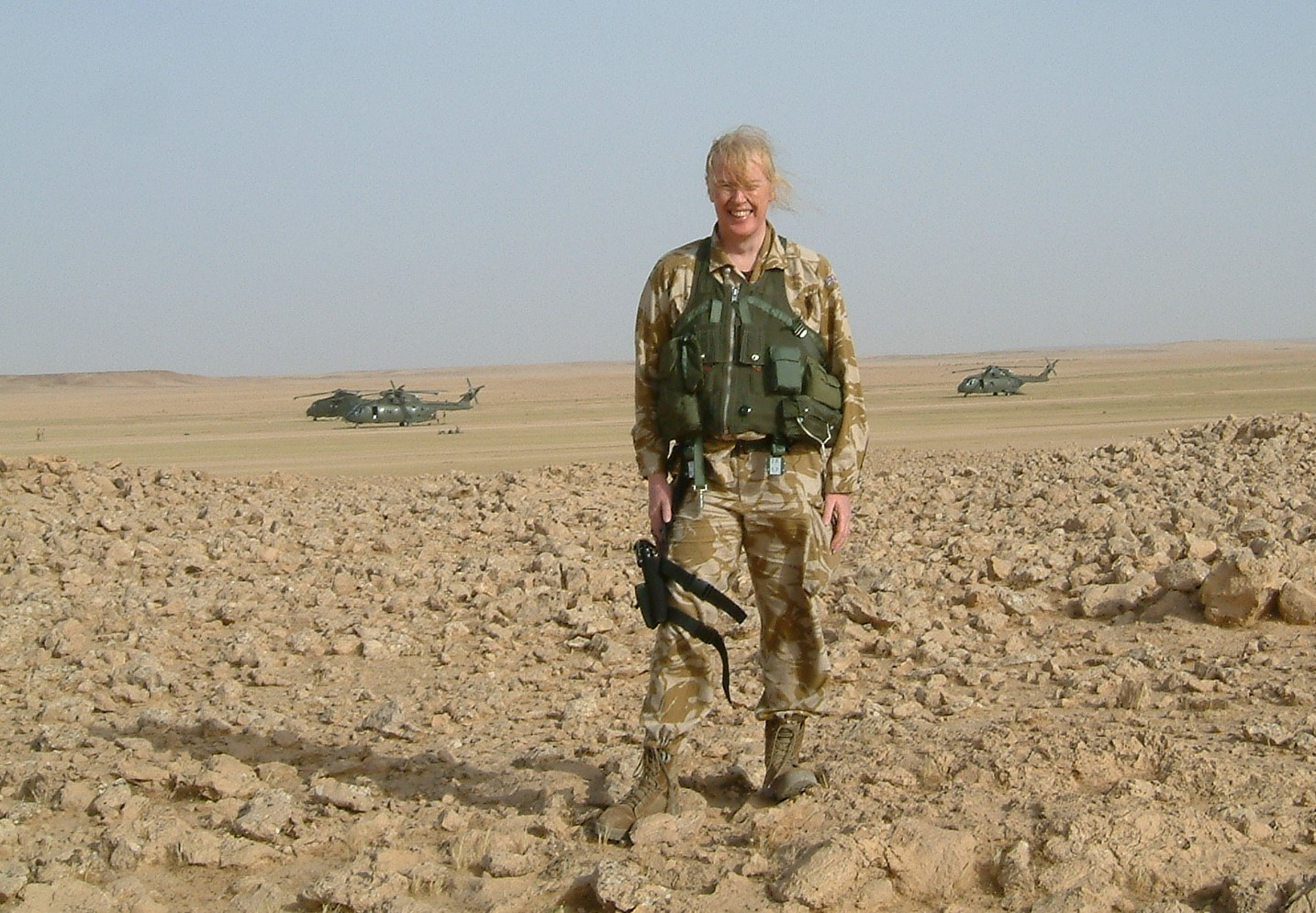 Caroline on a mission in 2005