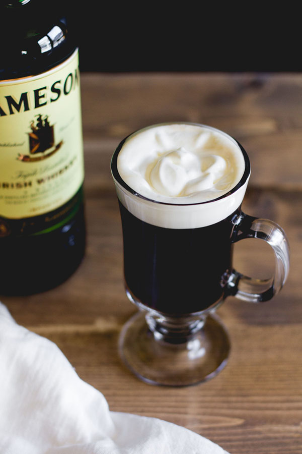 Irish Coffee St. Patrick's Day cocktail
