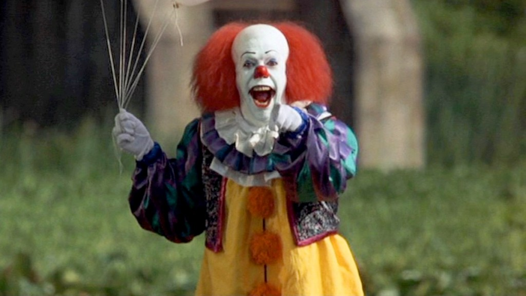 IT, adapted from the Stephen King novel, starring Tim Curry