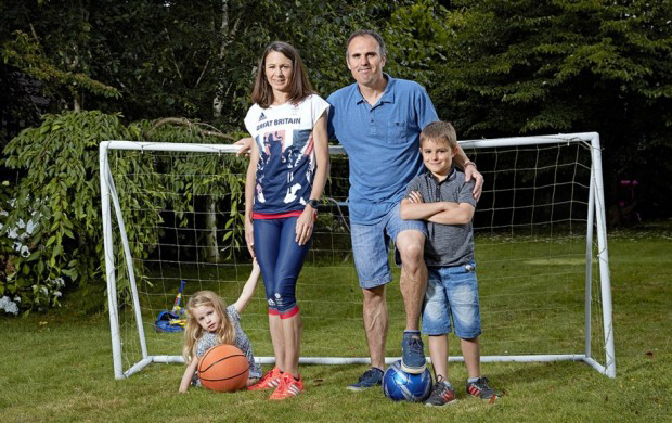 Jo Pavey and family