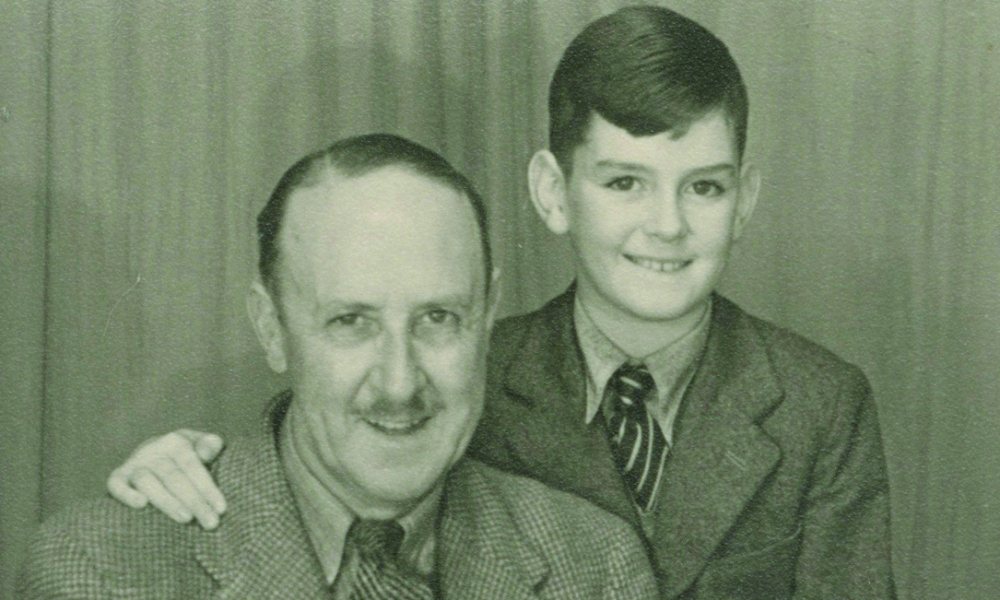 Cleese with his father