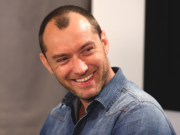 Jude Law's thinning hair