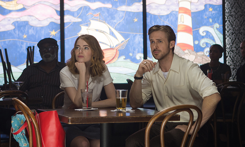 La La Land, musical directed by Damian Chazelle, starring Ryan Gosling and Emma Stone