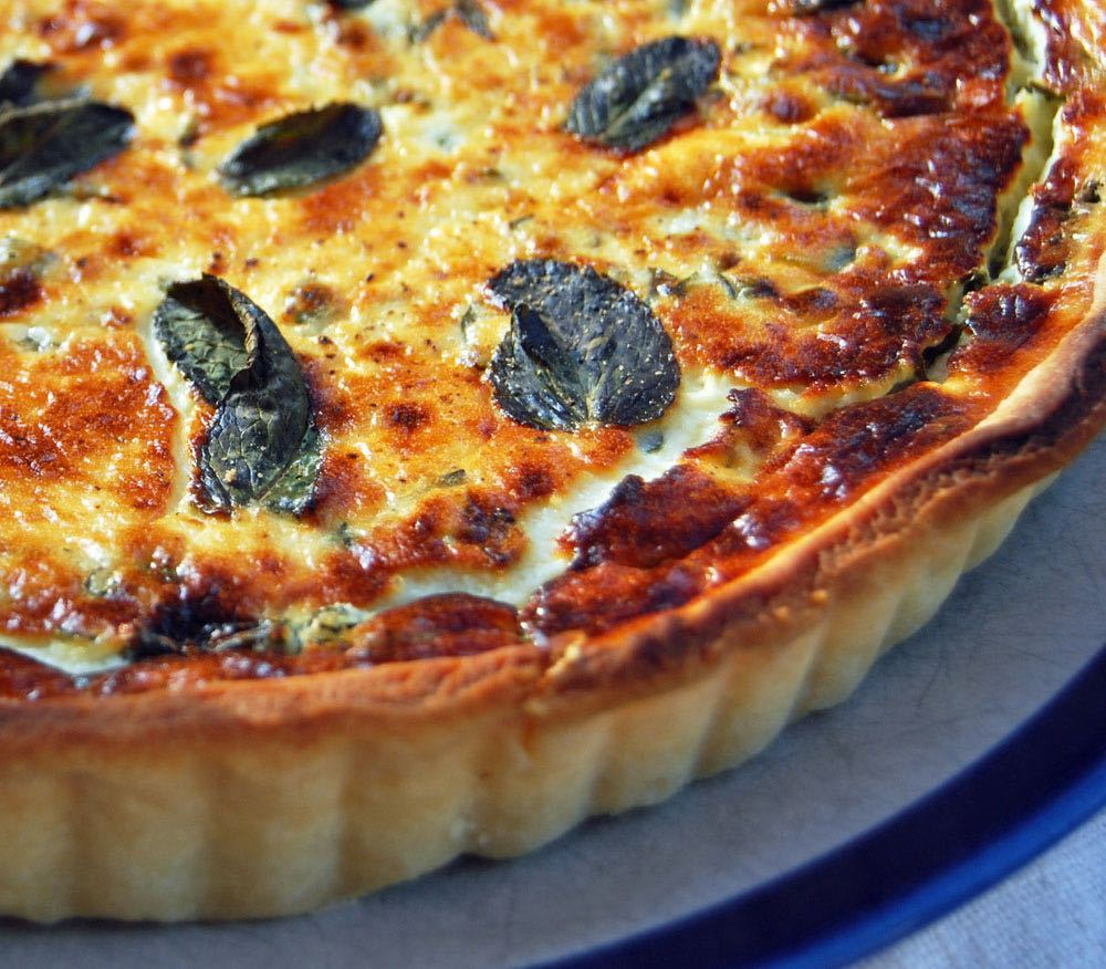 goats' cheese tart