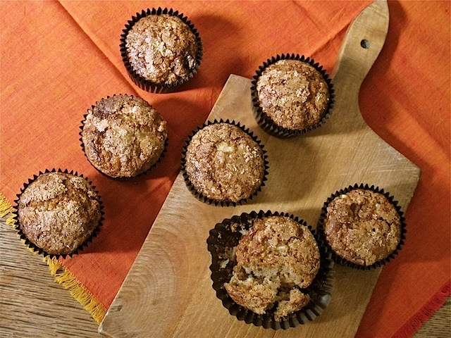 pear and ginger spelt muffins