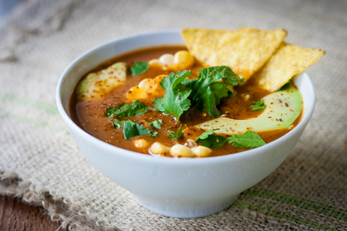easy blender tortilla soup