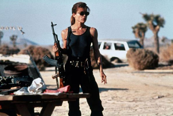 Linda Hamilton as Sarah Connor in Terminator 2