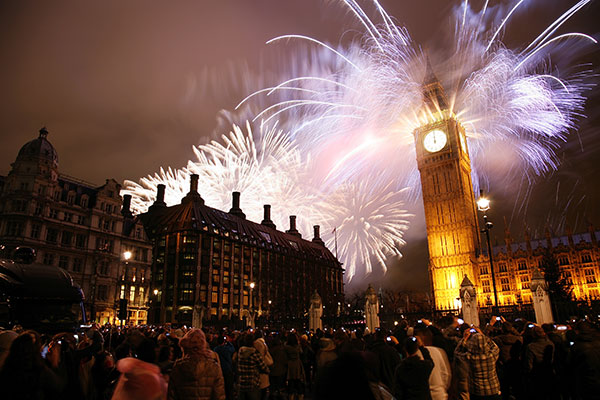 London at New Year's Eve