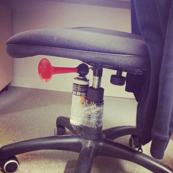 office prank funny chair