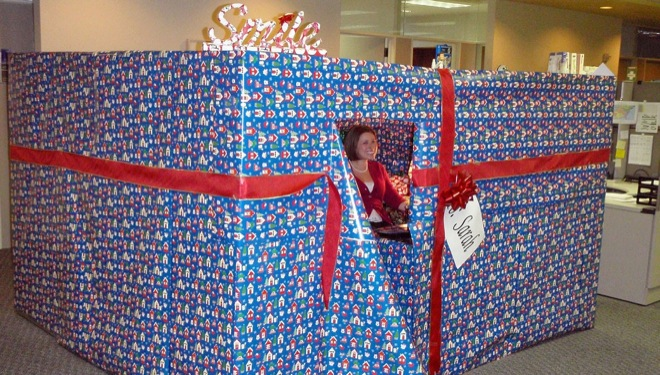 christmas office prank