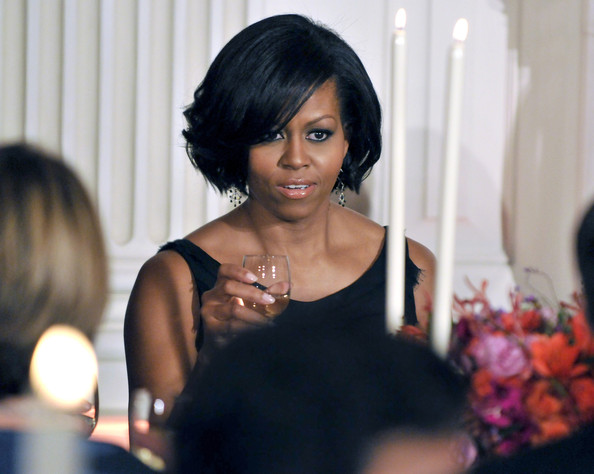 short hair michelle obama