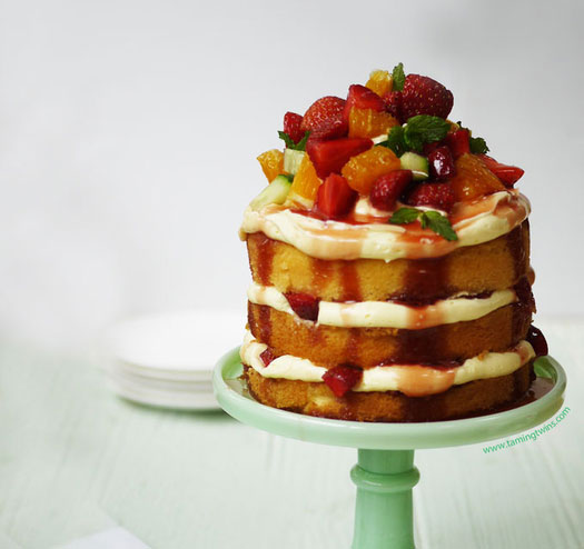 Pimms layer cake
