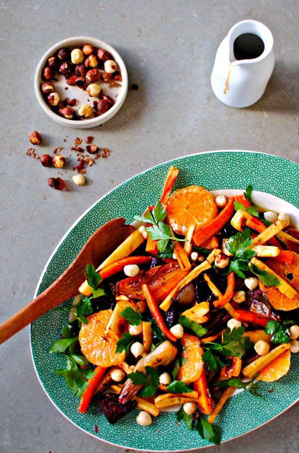 Winter Salad With Pomegranate Dressing