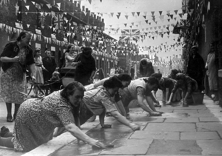 Queen Elizabeth II Coronation street party 1953
