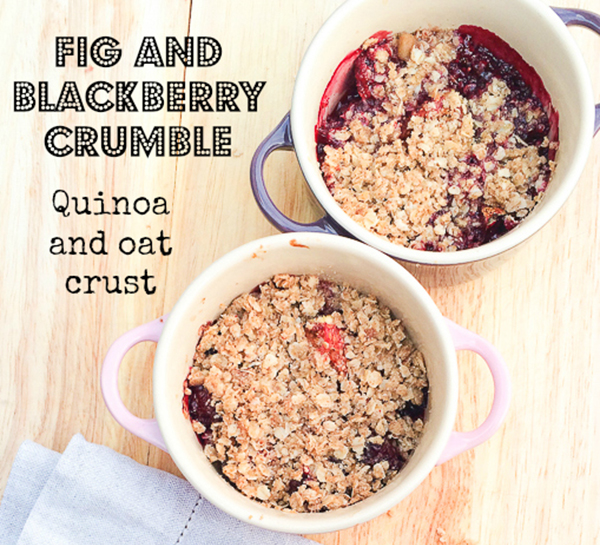 Fig and blackberry crumble with a quinoa and oat crust