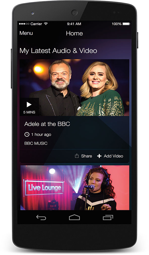 android BBC music
