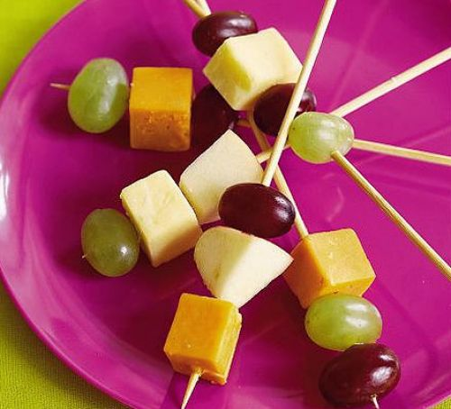 cheese and fruit sticks