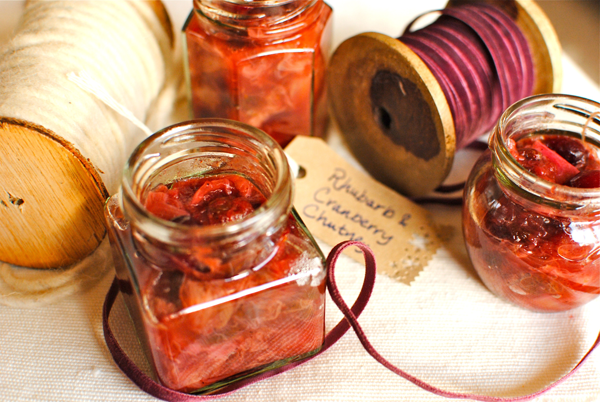 Rhubarb and Cranberry Chutney