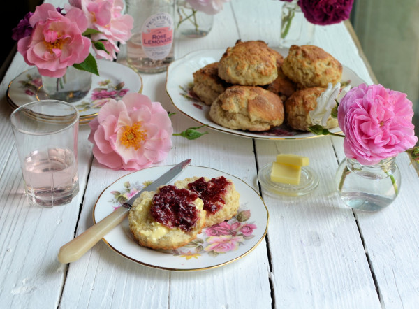 old fashioned rose lemonade scones