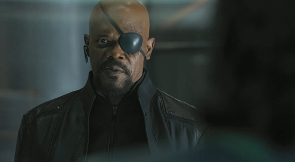 Samuel L Jackson as Nick Fury in The Avengers