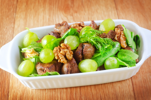 Duck Liver Salad with Grapes Recipe