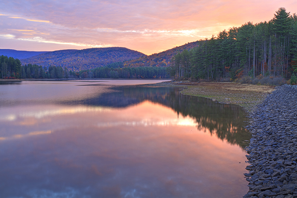 The Catskills mountains
