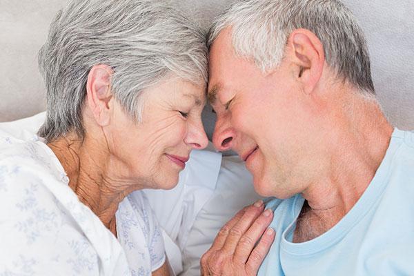 happy elderly couple sex drive