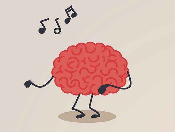 Brain listening to music