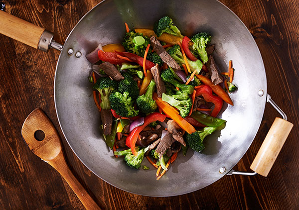 stir frying