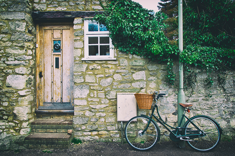 House with bike