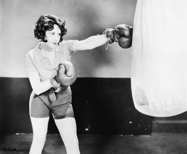 vintage female boxer