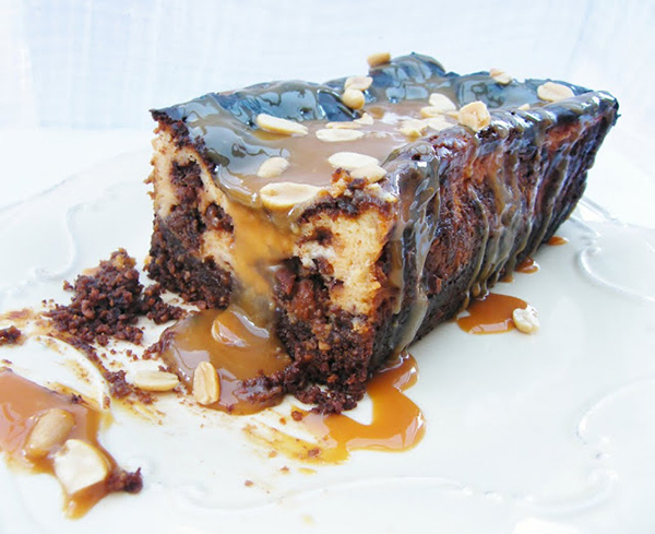 Snickers Cheesecake Loaf