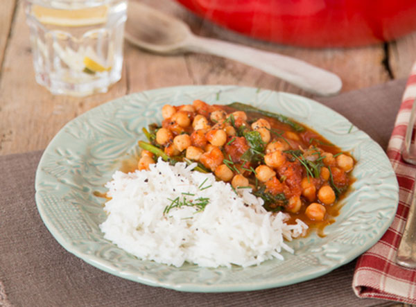 spicy lemon chickpea casserole
