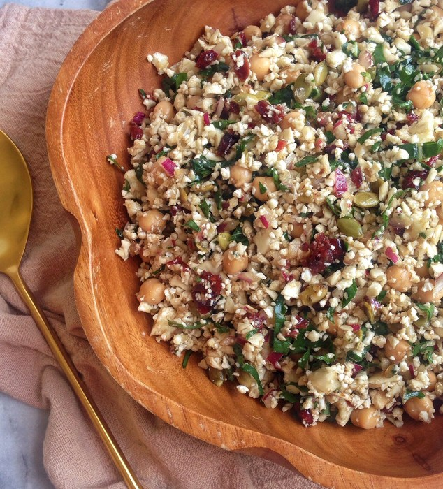 cauliflower cranberry salad
