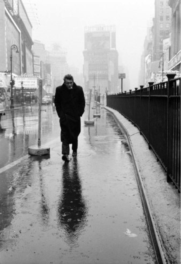 James Dean in the rain
