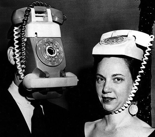 Vintage Halloween Telephone Heads