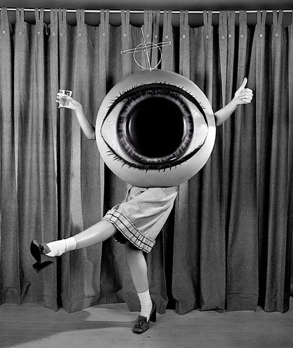 Vintage Creepy Halloween Eye