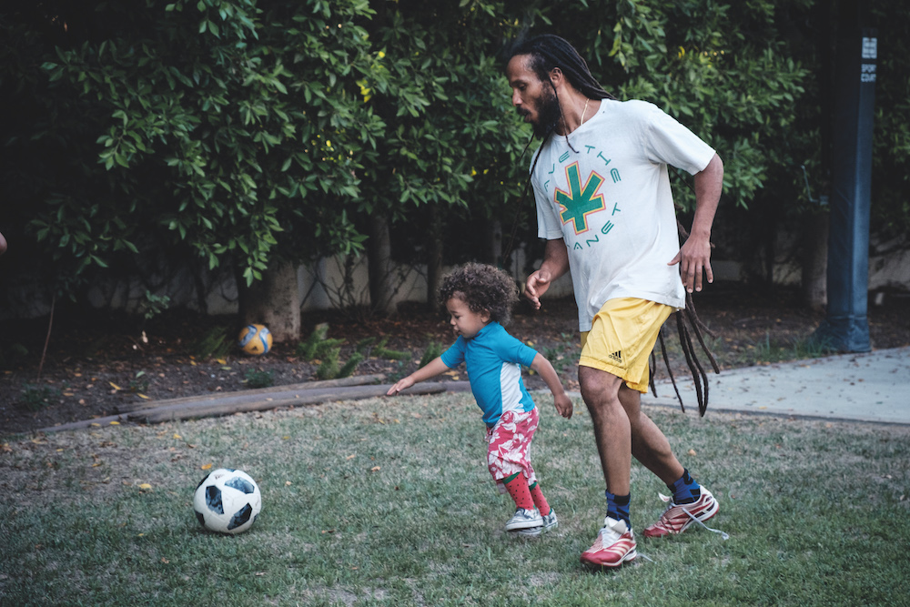 ziggy marley football son